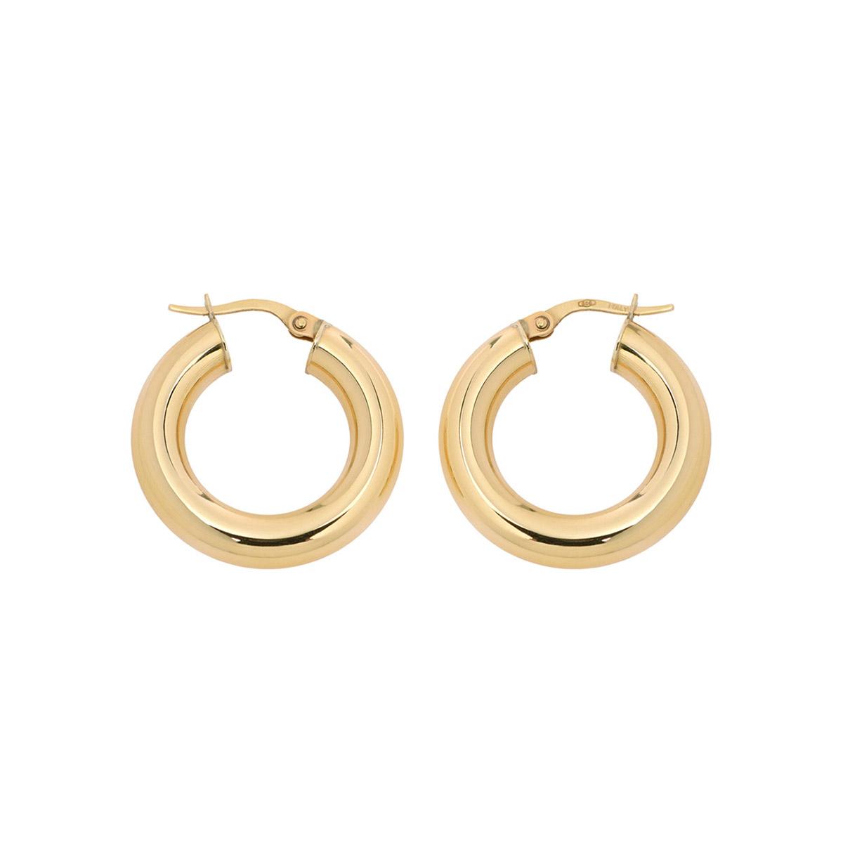 bright golden hoops