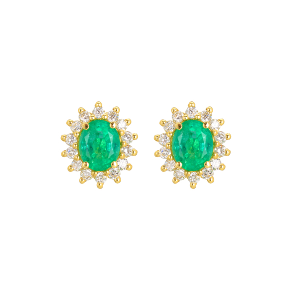 σκουλαρικια καρφωτα πρασινα