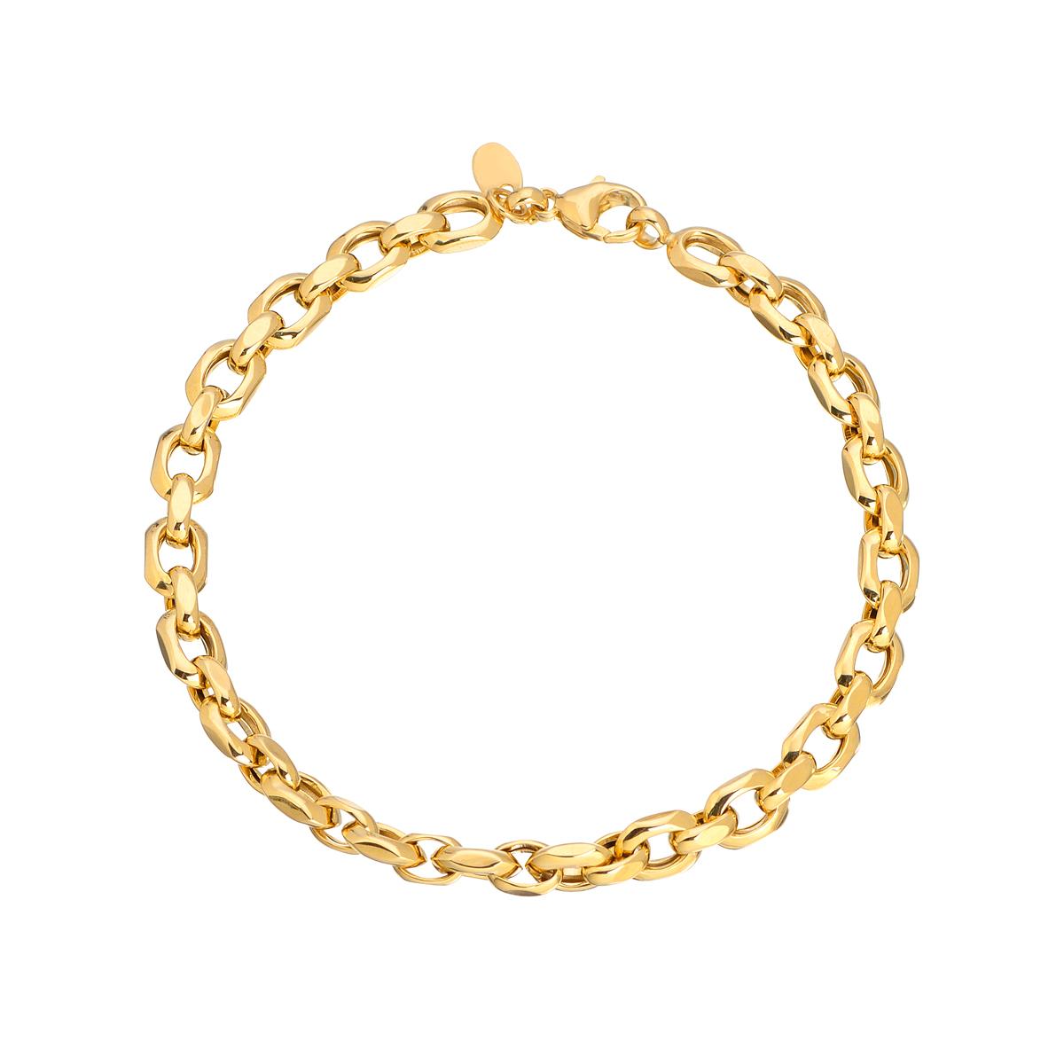 χρυσο βραχιολι χοντρη αλυσιδα