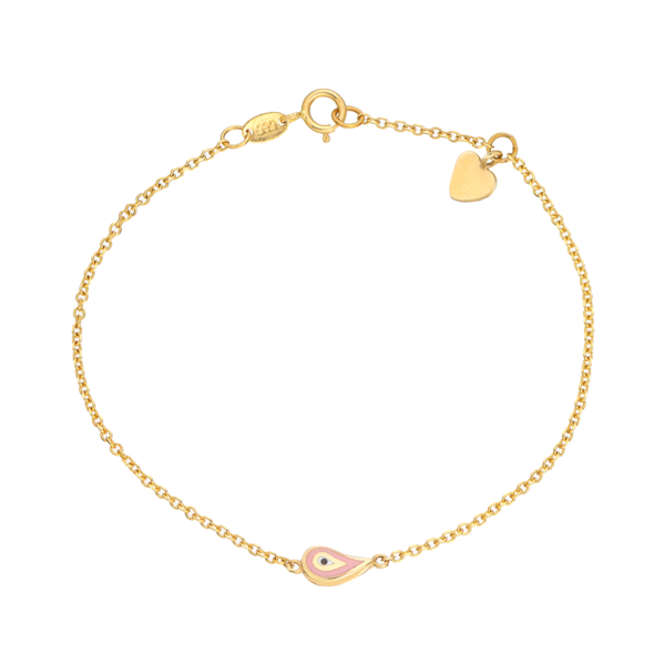 χρυσο βραχιολι με ματακι κοσμημα petros tasoulis