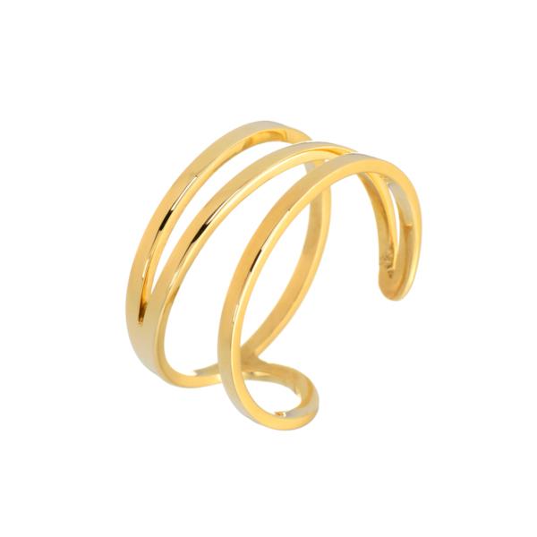 χρυσο δαχτυλιδι με γεωμετρια