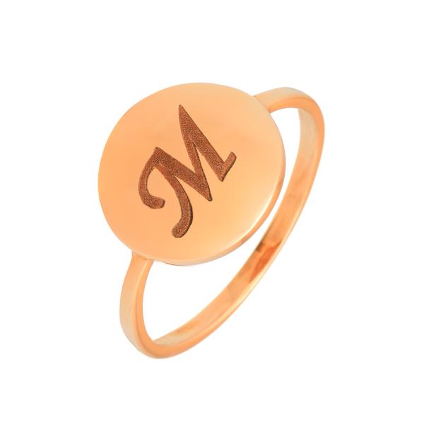 μονογραμμα ροζ δαχτυλιδι