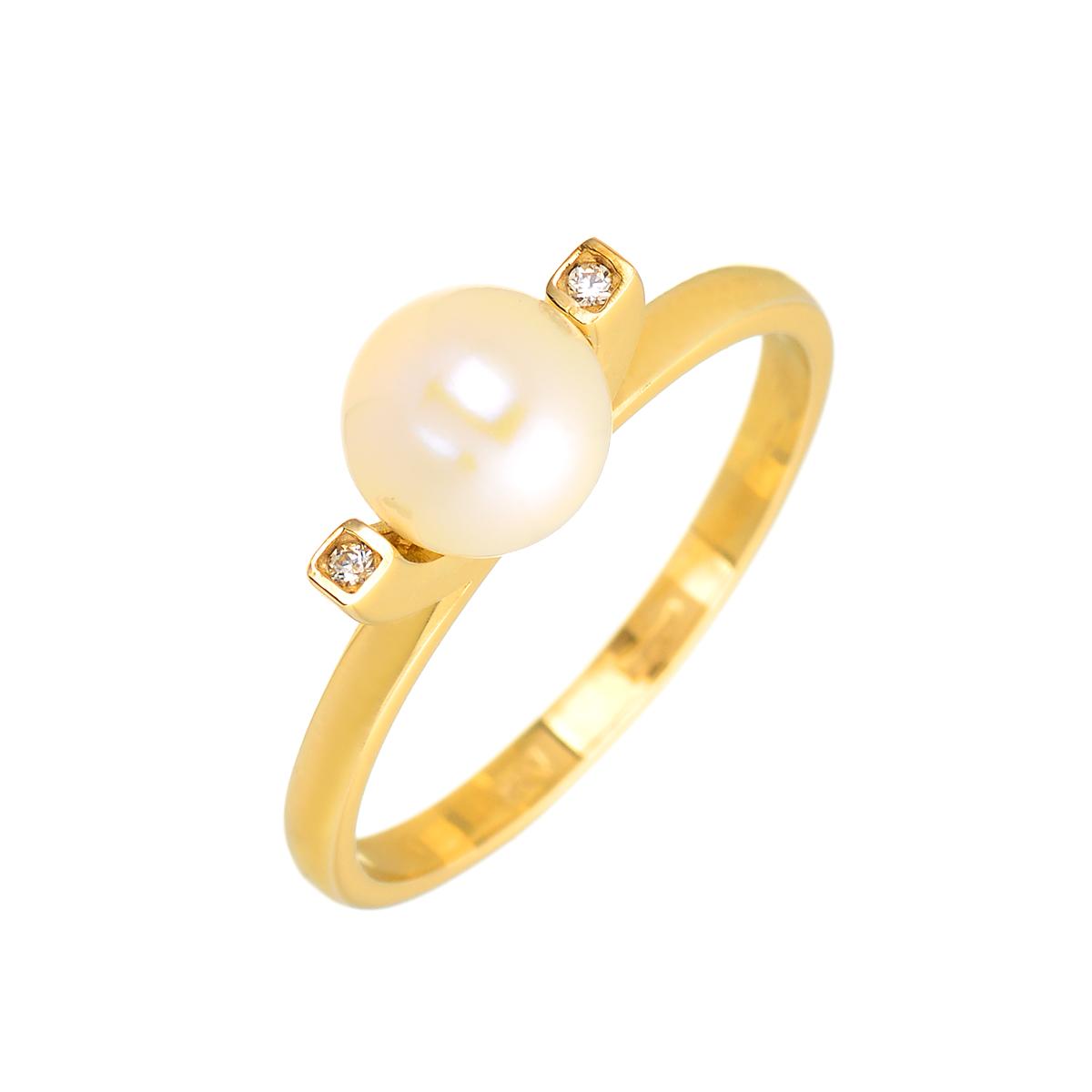μαργαριταρι χρυσο δαχτυλιδι