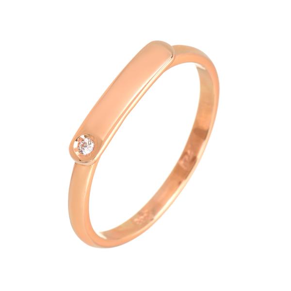 ροζ χρυσο δαχτυλιδι μικρο διακριτικο