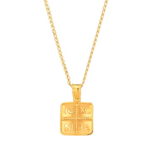 τετραγωνο κωνσταντινατο χρυσο κολιε