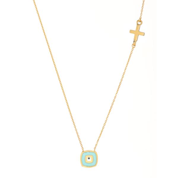 necklace eye luckyc charm.