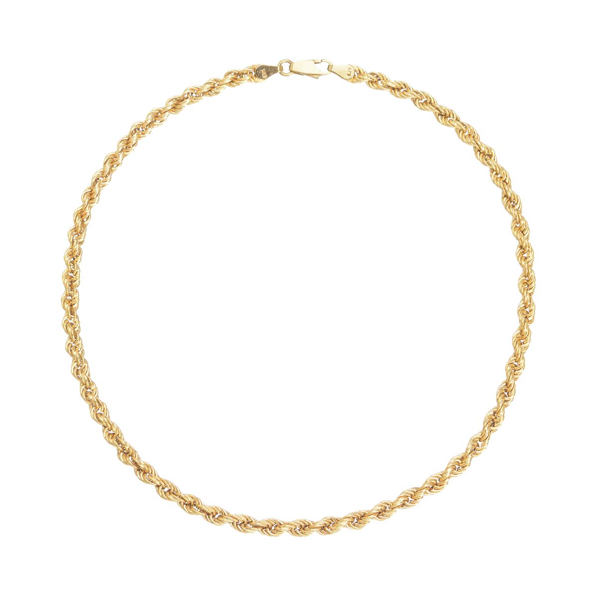 χρυσο κολιε με στριφτη αλυσιδα λαιμου