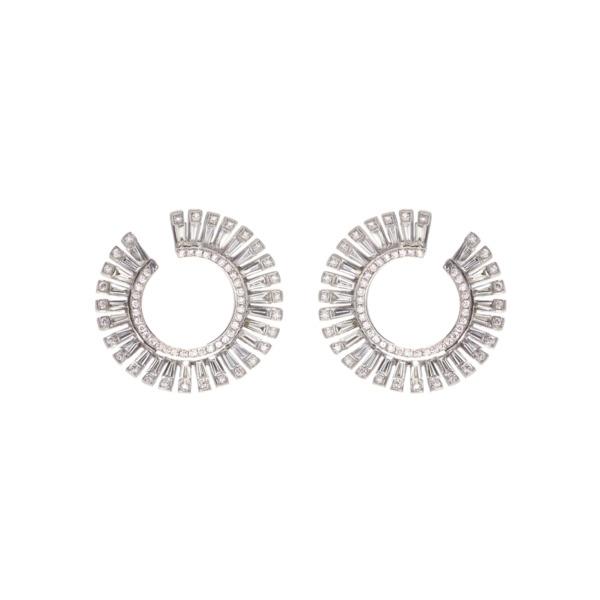 διαμαντενια σκουλαρικια, λευκοχρυσα κοσμηματα