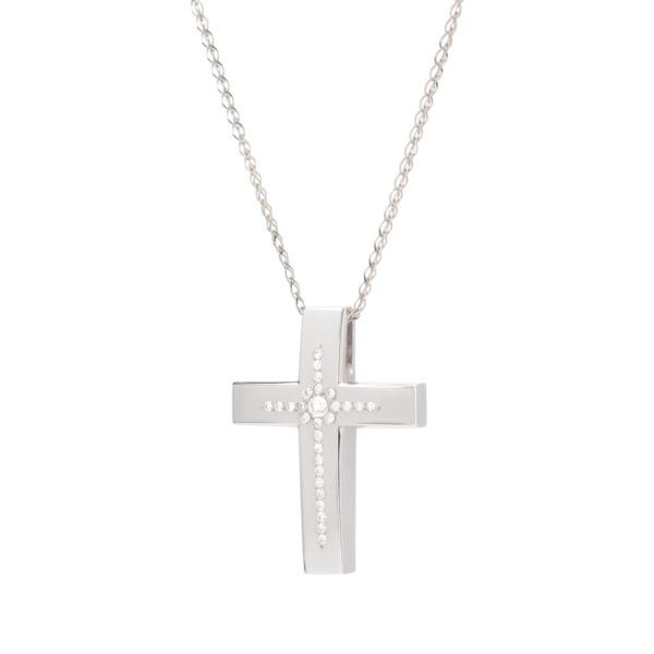 σταυρος γυναικειος λευκοχρυσος, σταυρος για βαφτιση